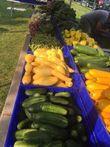 Farmers market for fresh veggies!