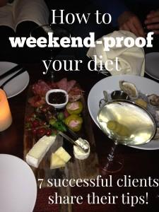 weekend proof your diet